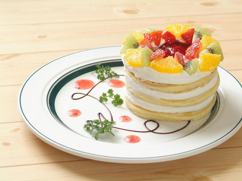 春のお花パンケーキ