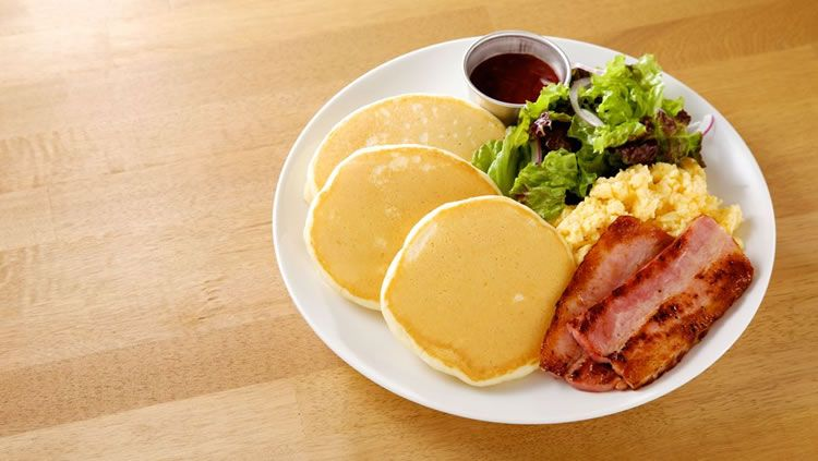 【Lunch time】Bacon and Scrambled Egg Pancakes