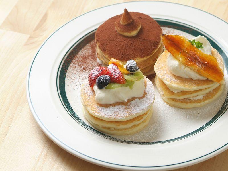 【高松丸亀町店限定】パンケーキ3種盛り(日替わり)